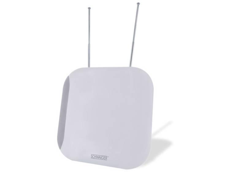 Schwaiger ZA100 Actieve DVB-T-T2 platte antenne Binnen Versterking=36 dB Wit