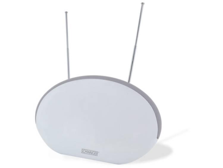 Schwaiger ZA200 Actieve DVB-T-T2 platte antenne Binnen Versterking=36 dB Wit