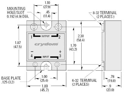 Crydom H12WD4890 Halfgeleiderrelais 1 stuks Laadstroom (max.): 90 A Schakelspanning (max.): 660 V/AC Schakelend bij over