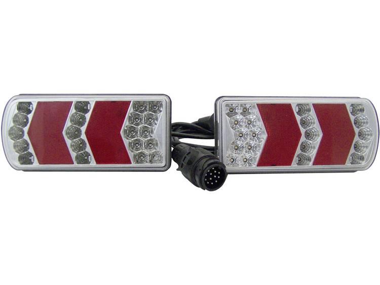 LED, SMD LED Aanhangerverlichtingsset Knipperlicht, Remlicht, Kentekenverlichting, Mistachterlicht, Reflector, Achteruitrijlicht, Achterlicht achter 12 V