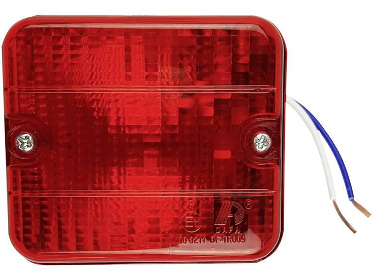 Halogeenlamp Mistlamp Mistachterlicht achter 12 V Rood Berger Schröter