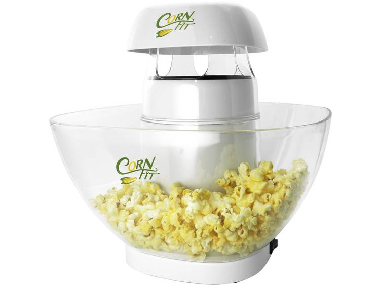Cornfit PM 1160 Popcornmaker Wit, Glas