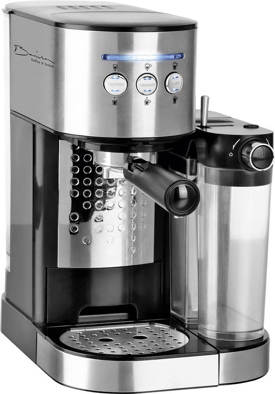 Espressomachine Barista Zwart RVS 1470 W met melkreservoir