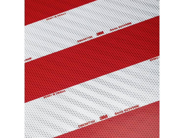 3M 823i Rood (reflecterend), Wit (reflecterend) (l x b) 705 mm x 141 mm Inhoud 1 pack