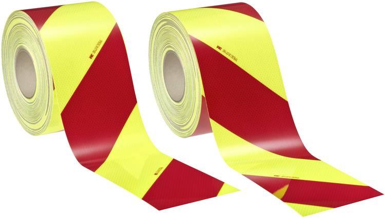 Image of 3M Fluorescerend geel/groen, Rood (fluorescerend) (l x b) 45.7 m x 140 mm Inhoud: 2 rollen