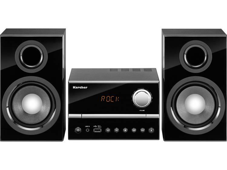 Karcher MC 6445 Stereoset AUX, CD, FM, USB 2 x 15 W Zwart