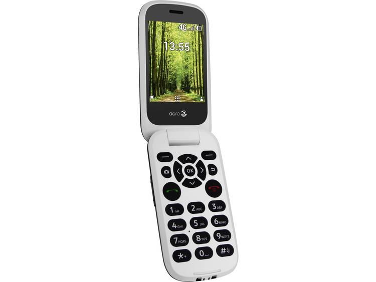 doro DORO 7060 Senioren clamshell telefoon Met laadstation, SOS-knop Zwart/wit kopen