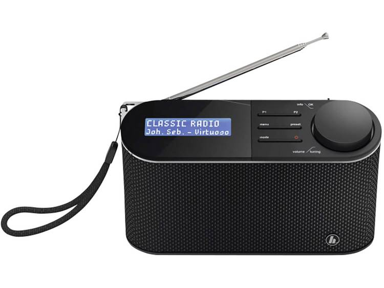 Hama DR15 Transistorradio DAB+, FM Zwart