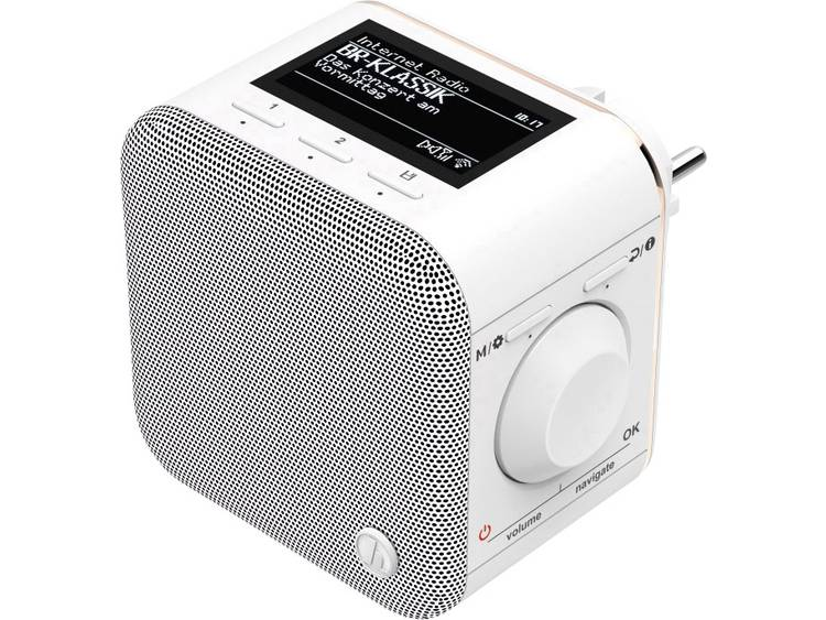 Hama IR40MBT-PlugIn Stopcontactradio met internetradio Internet Bluetooth, WiFi,