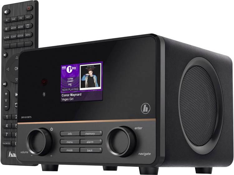 Hama DR1610BTS Tafelradio DAB+, FM AUX, Bluetooth Zwart
