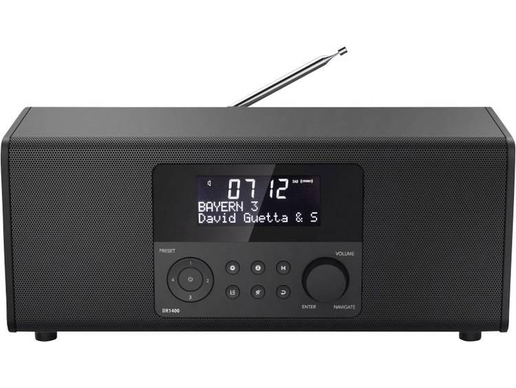 Hama DR1400 DAB+ Tafelradio FM Zwart