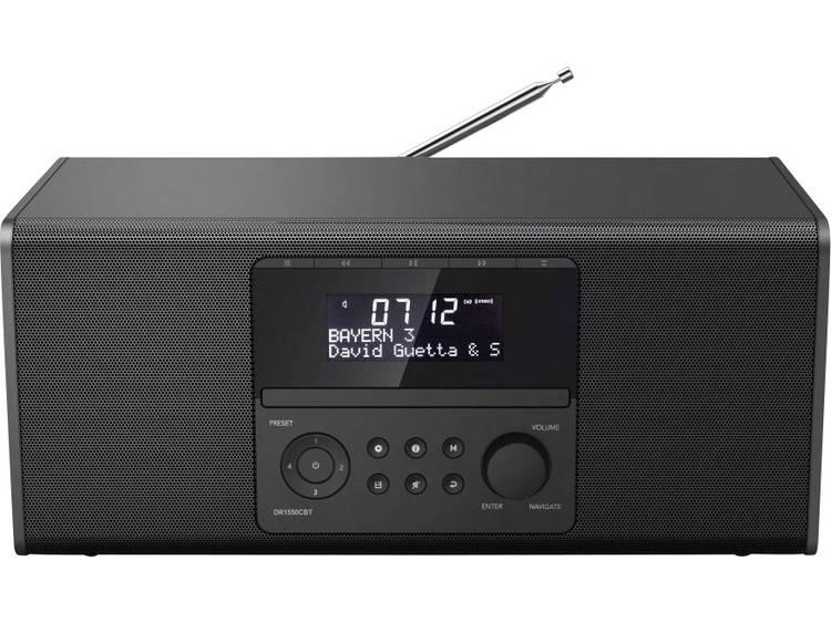 Hama DR1550CBT DAB+ Tafelradio Bluetooth, CD, FM, USB Zwart