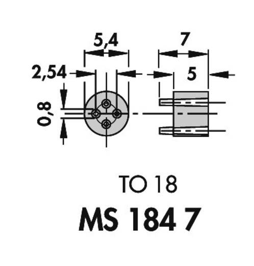 Fischer Elektronik MS 184-7 Transistor-afstandshouder 1 stuks Geschikt voor behuizing (halfgeleider): TO-18 (Ø x h) 5.4
