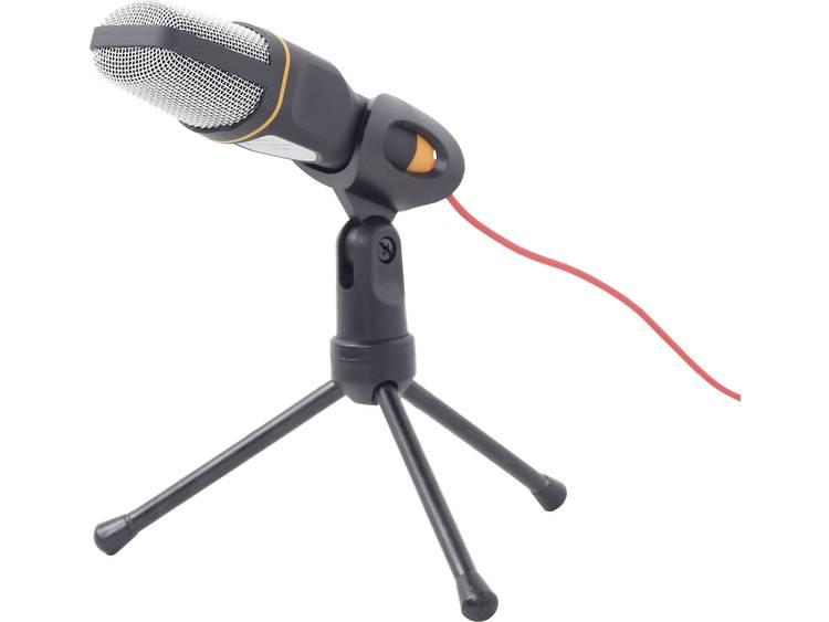 PC-microfoon Gembird MIC-D-03 Zwart Kabelgebonden Incl. standaard