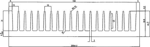 Profielkoellichaam 0.68 K/W (l x b x h) 150 x 200 x 40 mm
