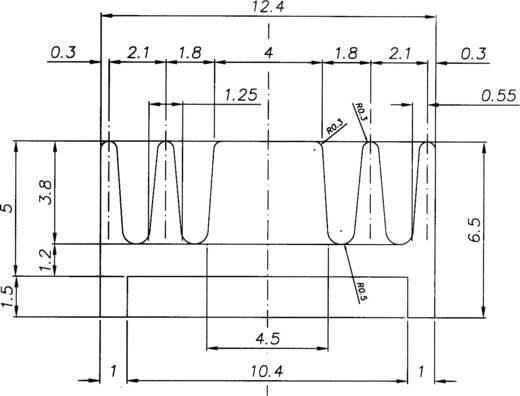 Profielkoellichaam 54 K/W (l x b x h) 25 x 12.4 x 6.5 mm