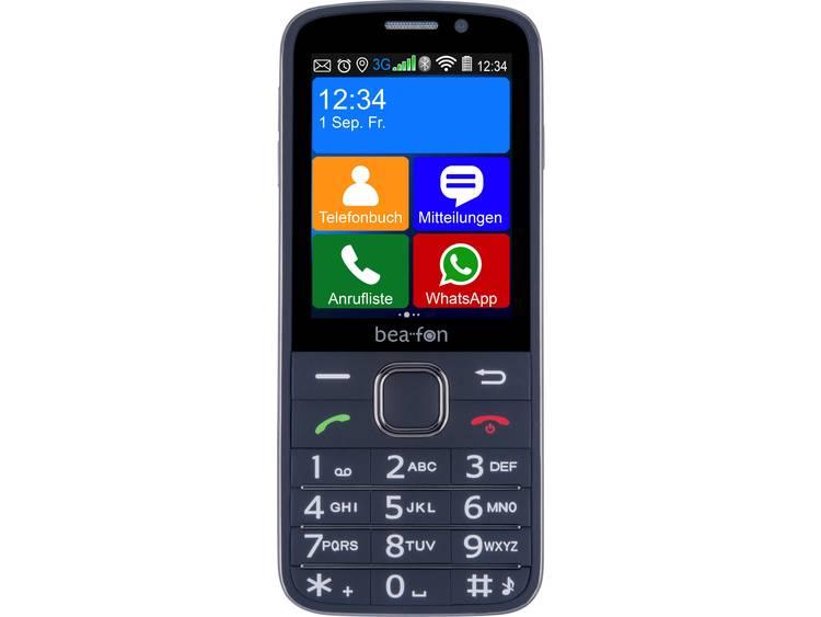 beafon SL810 Senioren mobiele telefoon Laadstation, SOS-knop Zwart (met rubber bekleed), Zwart