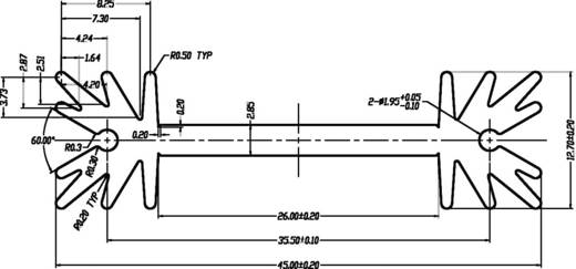 Profielkoellichaam 7 K/W (l x b x h) 38.5 x 45 x 12.7 mm