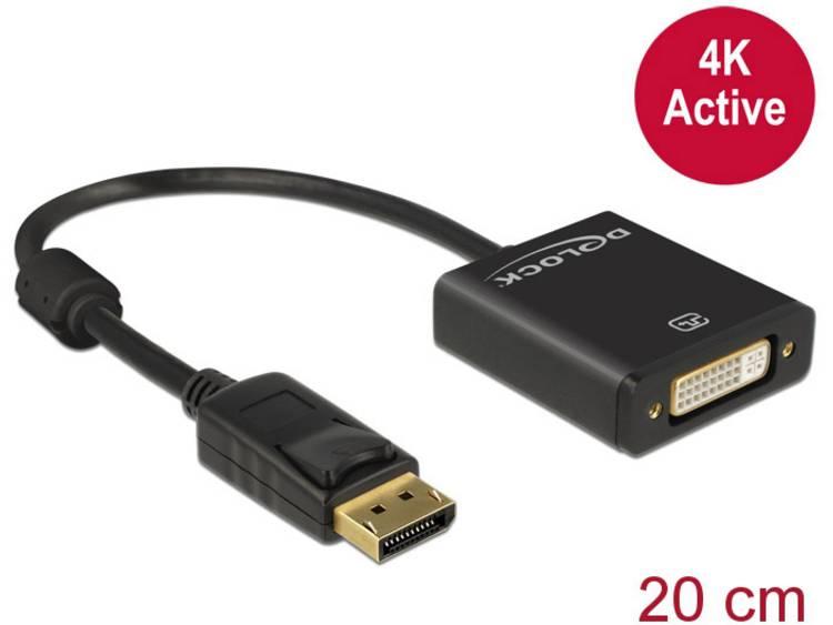 DeLOCK Displayport Adapter Delock DP -> DVI(24+5) 4K Aktiv (62599)