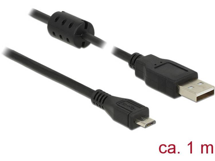 USB 2.0 micro kabel 1 meter Zwart Delock