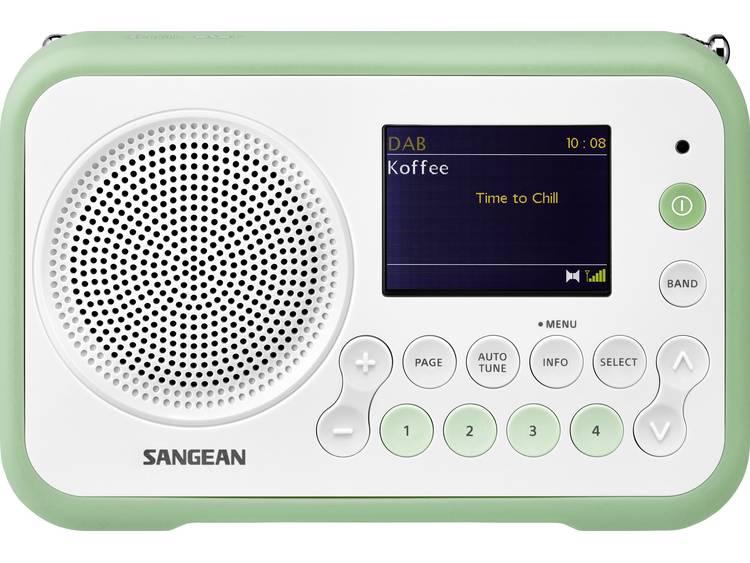 Sangean DPR-76 DAB+ Transistorradio FM Herlaadbaar Wit, Groen