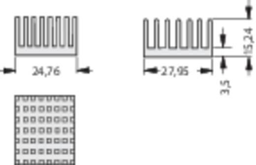 Koellichaam 10.9 K/W (l x b x h) 27.95 x 24.76 x 15.24 mm Fischer Elektronik ICK PGA 11 X 11
