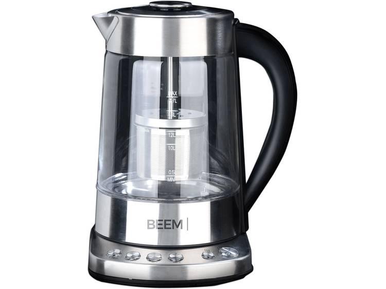 BEEM Teatime Waterkoker Met theezeef, Snoerloos RVS