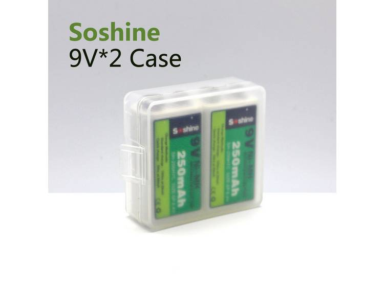 Soshine SBC-018 Batterijbox Aantal cellen: 2 9V (blok) (l x b x h) 54 x 52 x 19 mm