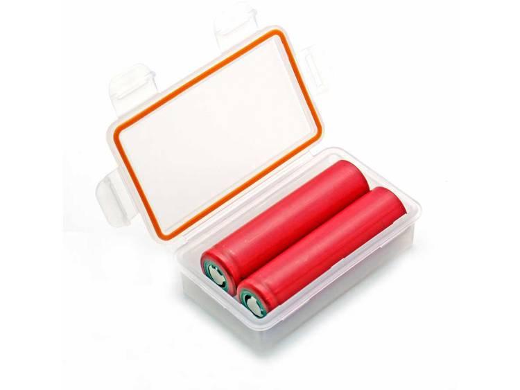 Soshine SBC-W1, IP66 Batterijbox Aantal cellen: 2 18650 (l x b x h) 84 x 50 x 24 mm