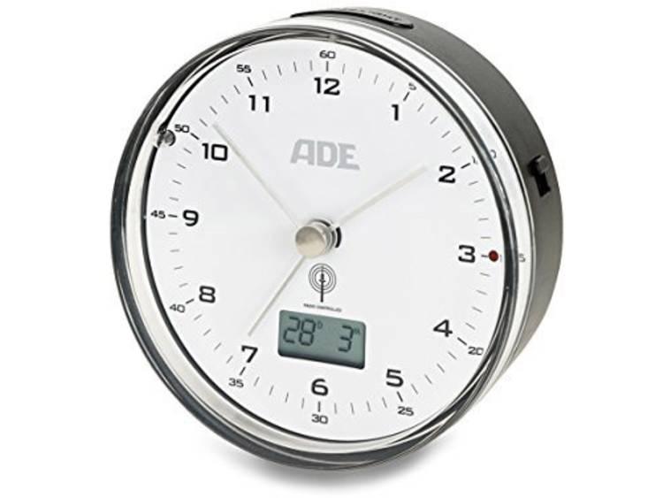 ADE CK 1713 Zendgestuurde klok Elektronisch Wit zwart