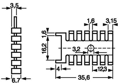 Koellichaam 21 K/W (l x b x h) 35.6 x 22 x 6.7 mm S