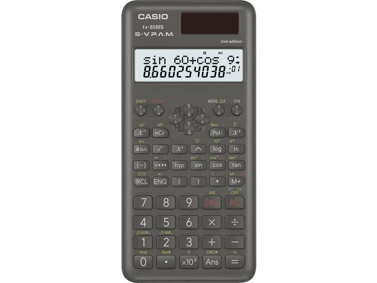 Schoolrekenmachine Casio FX 85MS 2nd Edition Zwart Aantal displayposities 12 we