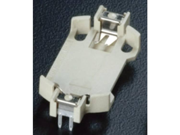 Takachi HU2032 Knoopcelhouder 1 CR2032 Horizontaal, Doorsteekmontage THT (l x b x h) 28.5 x 16.1 x 5.2 mm