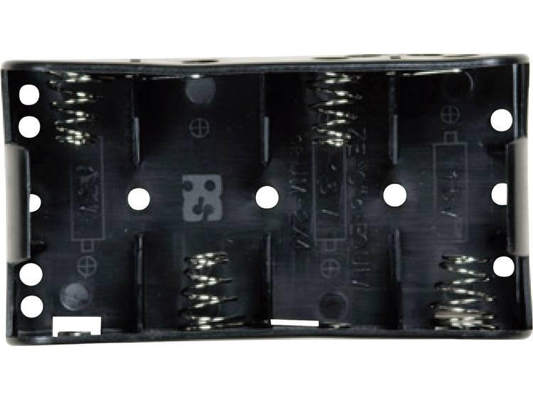 Takachi SN24S Batterijhouder 4 C (baby) Drukknopaansluiting (l x b x h) 107.4 x 58.3 x 23.3 mm