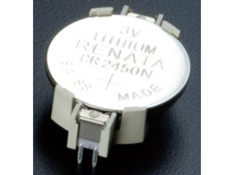 Takachi HU2450 Knoopcelhouder 1 CR2450, CR2450N Horizontaal, Doorsteekmontage THT (l x b x h) 33 x 16.1 x 7.3 mm