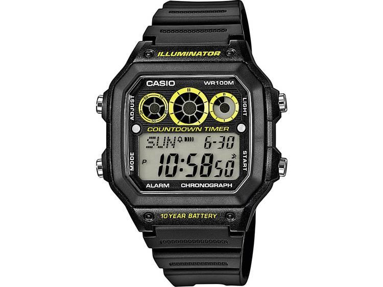 Casio Quartz Horloge AE 1300WH 1AVEF l x b x h 45 x 42.1 x 12.5 mm Zwart Mater