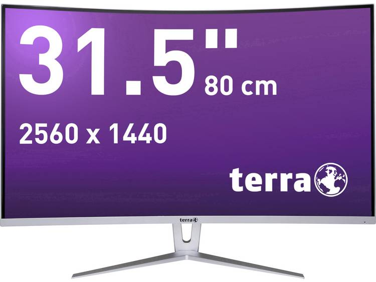Terra LED 3280W LED-monitor 80 cm (31.5 inch) Energielabel A (A++ – E) 2560 x 1440 pix WQHD 5 ms Audio-Line-in, DVI, DisplayPort, HDMI VA LED