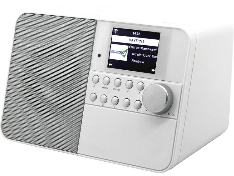 soundmaster IR6000WE Tafelradio met internetradio AUX, WiFi, Internetradio Wit