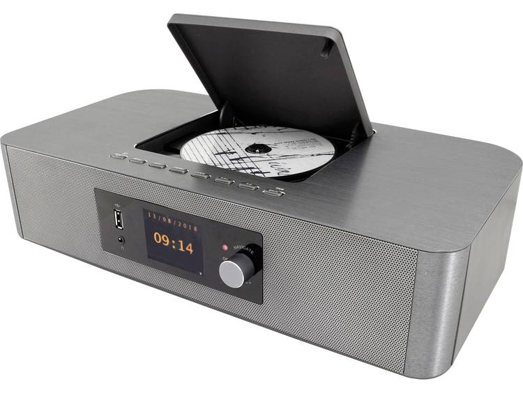 SoundMaster ICD2020 Internet CD-radio AUX, Bluetooth, CD, DAB+, FM, WiFi Zilver