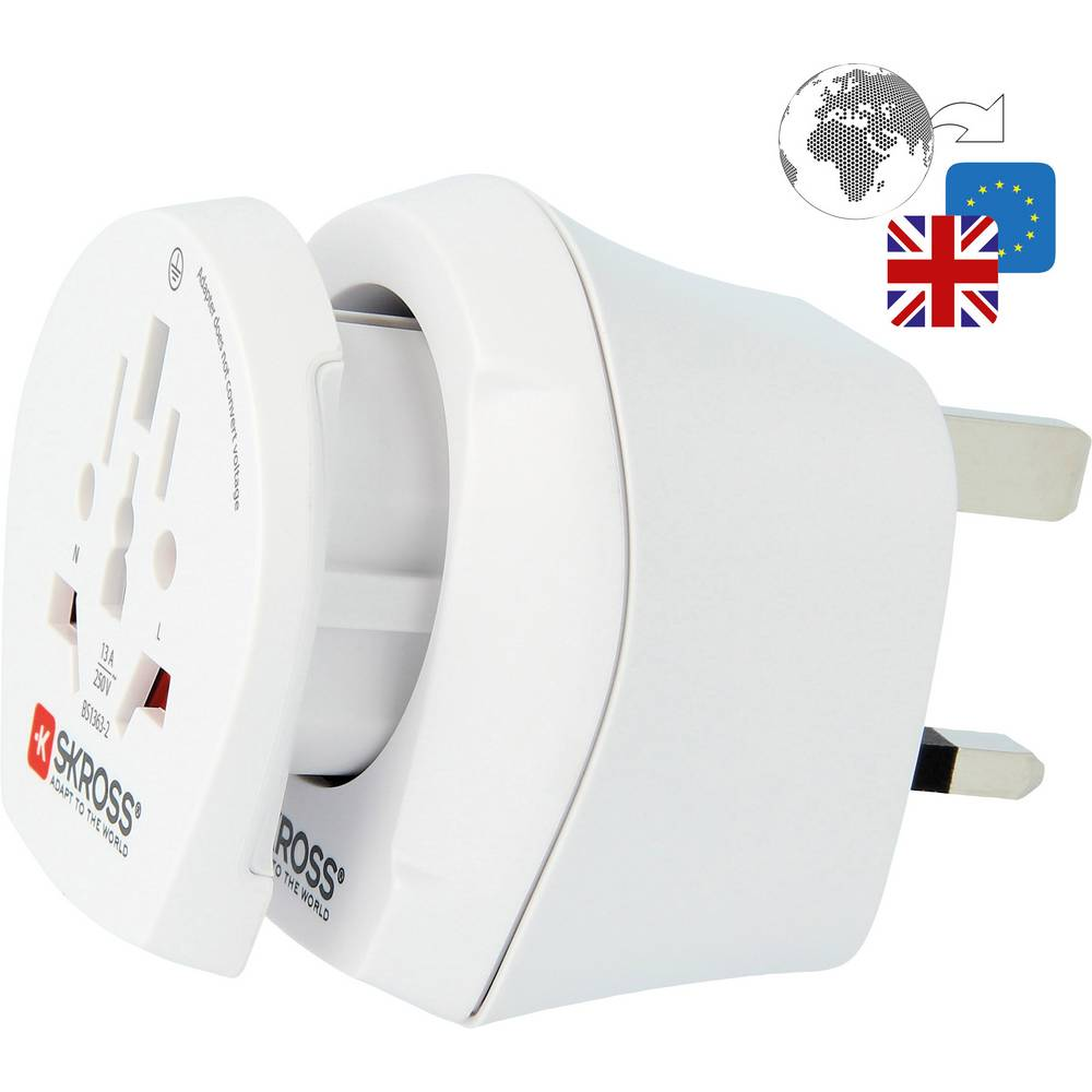 Skross 1.500231-E Reisstekker CO W to UK2