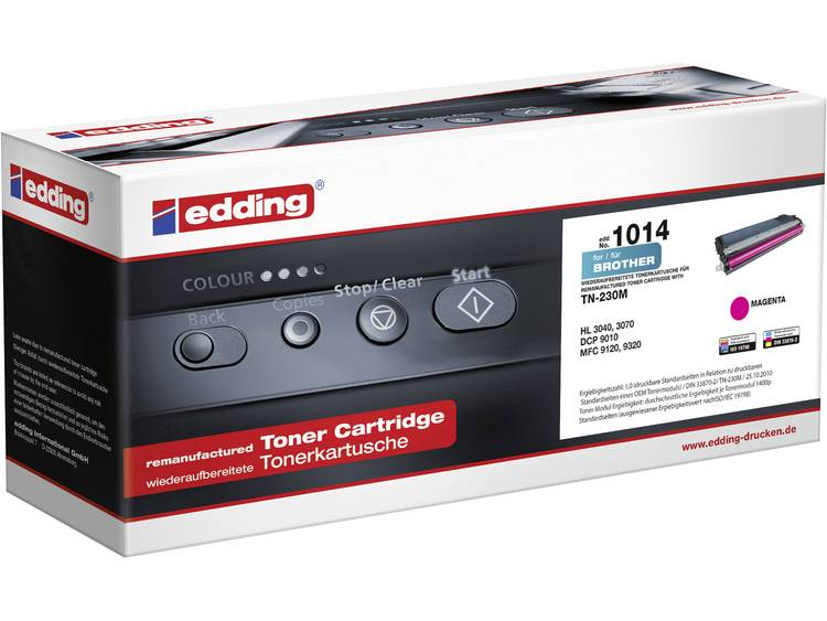 Edding Tonercassette vervangt Brother TN 230M TN230M Compatibel Magenta 1400 bl