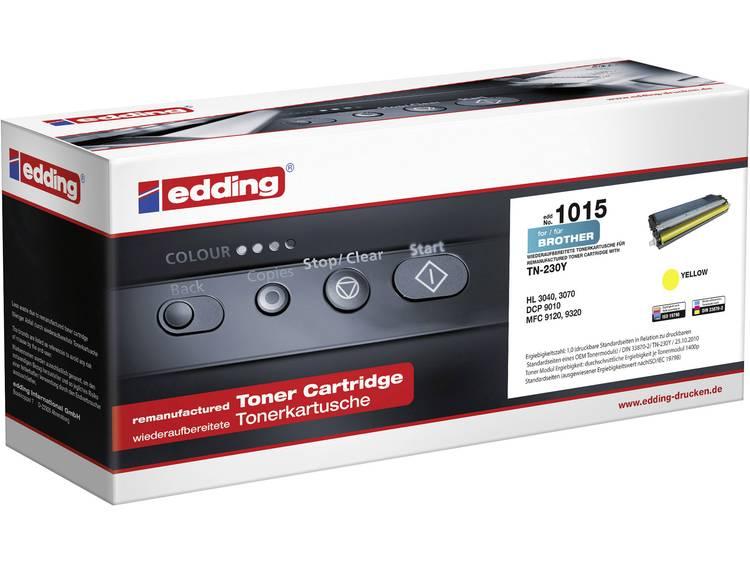 Edding Tonercassette vervangt Brother TN 230Y TN230Y Compatibel Geel 1400 bladz