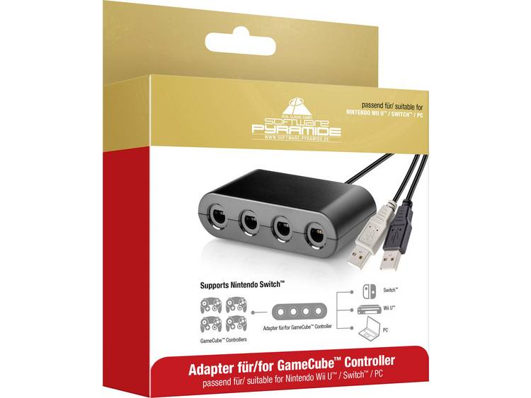 Software Pyramide GameCube Controller Adapter voor Nintendo Switch