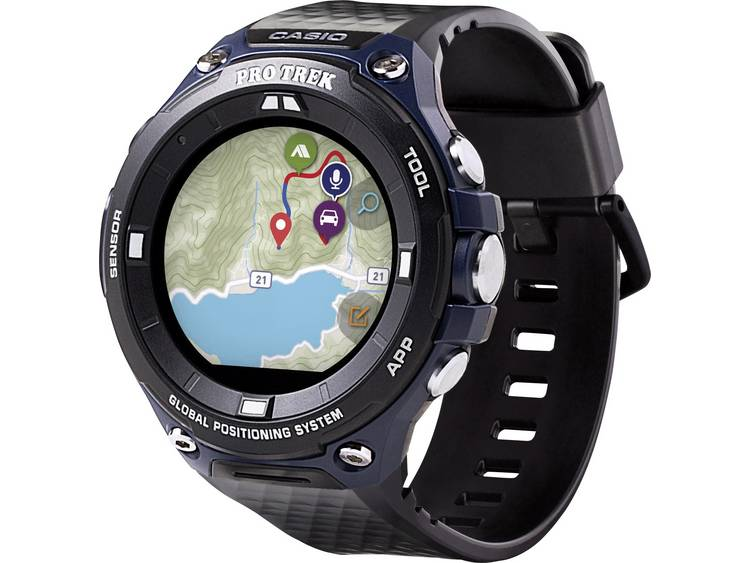 Casio Quartz Horloge WSD-F20A-BUAAE (l x b x h) 61.7 x 57.7 x 15.3 mm Indigo, Zwart Materiaal (behuizing): Hars Materiaal (armband): Hars