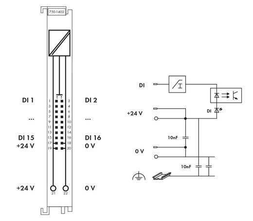 WAGO 750-1402 PLC-ingangskaart 24 V/DC