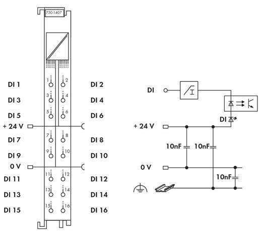WAGO 750-1407 PLC-ingangskaart 24 V/DC