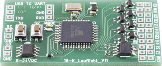 Conrad Components 190486 16 kanaals Looplicht bouwpakket Uitvoering (bouwpakket/module): Module 6 V/DC, 12 V/DC