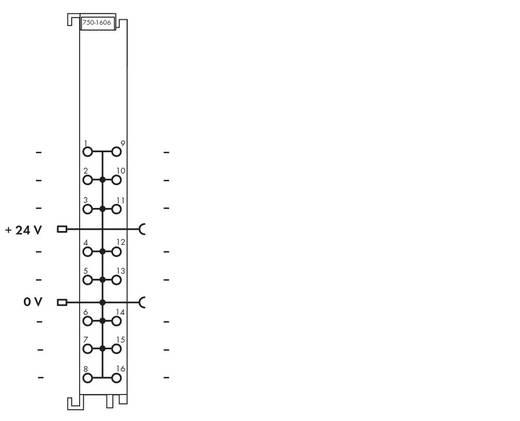 WAGO 750-1606 PLC-klem 24 V/DC