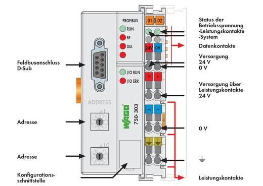 WAGO 750-303 PLC-busaansluiting 24 V/DC 1 stuks