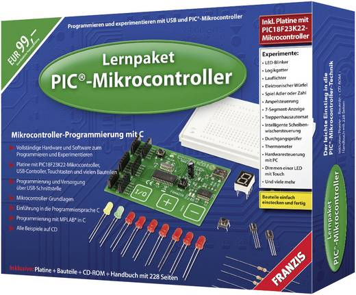 Franzis Verlag 978-3-645-65069-4 PIC-Mikrocontroller Leerpakket Leeftijdsklasse: vanaf 14 jaar